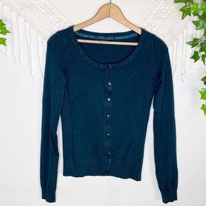 Maurices Dark Green Button Down Cardigan Sweater